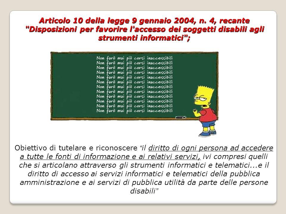 Articolo 10 della legge 9 gennaio 2004, n.