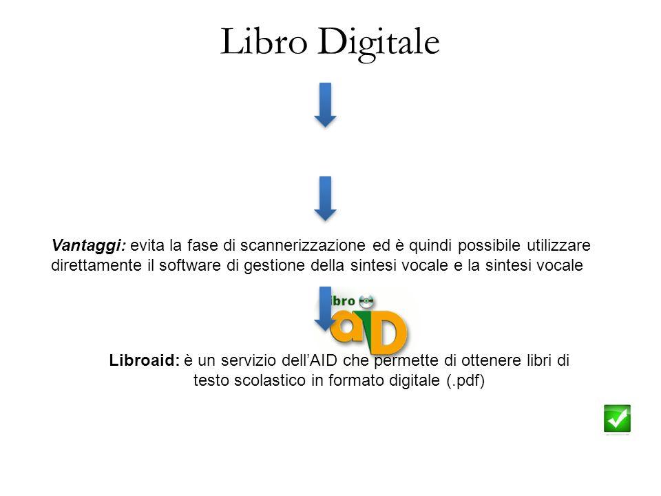 Libro Digitale Formato digitalizzato del libro cartaceo Vantaggi: evita la fase di scannerizzazione ed è quindi possibile utilizzare direttamente il s