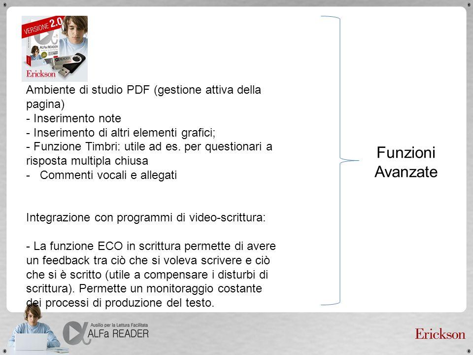 Ambiente di studio PDF (gestione attiva della pagina) - Inserimento note - Inserimento di altri elementi grafici; - Funzione Timbri: utile ad es. per