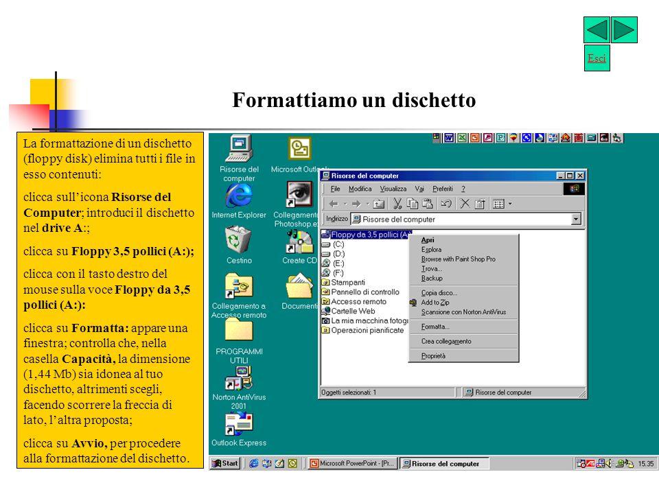 Permette di visualizzare le risorse del computer e gestire i file. Serve per collegarsi a Internet. Contiene i file cancellati. Questi si possono recu