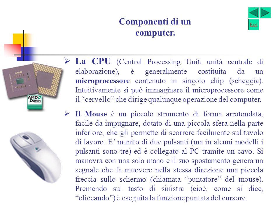 Segue tipi di Computer I computer portatili sono altrettanto potenti di quelli da scrivania tradizionali ma, grazie alle loro dimensioni limitate, sono lideale per chi ha continue necessità di spostarsi senza rinunciare a lavorare.