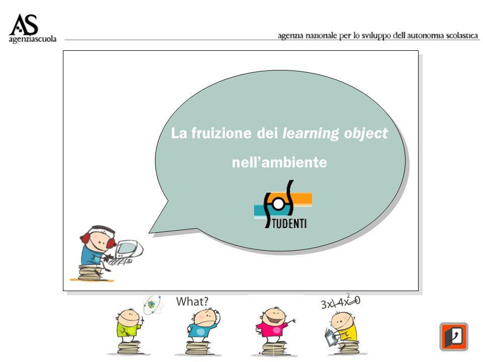 La fruizione dei learning object nellambiente