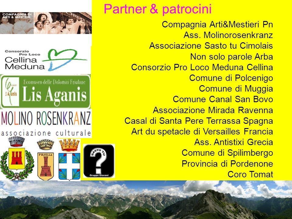 Partner & patrocini Compagnia Arti&Mestieri Pn Ass.