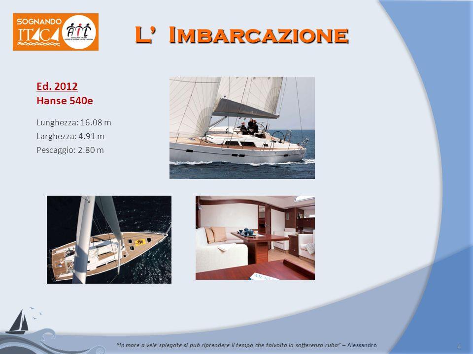 5 Le Tappe del Progetto La barca dellAIL partirà da Trieste domenica 10 giugno e farà ritorno ad Ancona il 23 giugno, dopo un lungo giro nel mar Adriatico.
