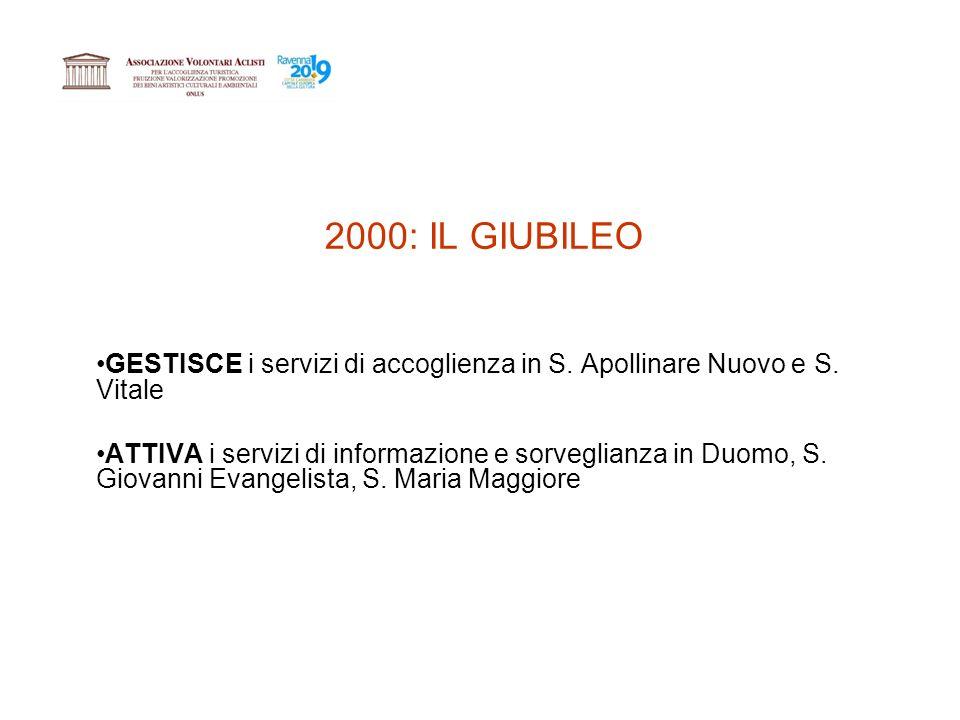 2000: IL GIUBILEO GESTISCE i servizi di accoglienza in S.