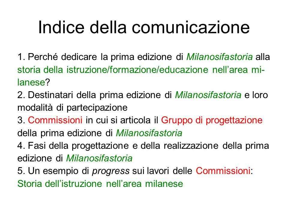 Indice della comunicazione 1.