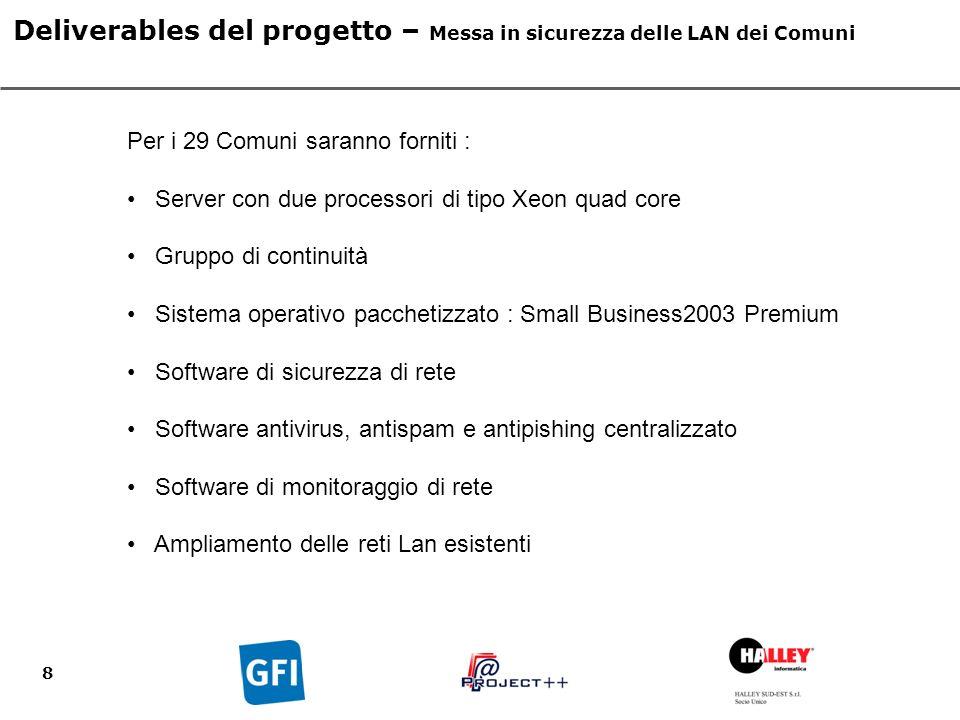 9 Deliverables del progetto – Interoperabilità applicativa Area 3.