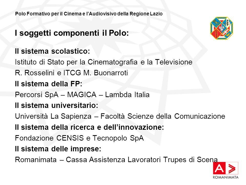 I soggetti componenti il Polo: Il sistema scolastico: Istituto di Stato per la Cinematografia e la Televisione R.