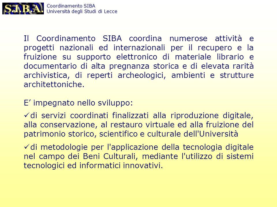 Coordinamento SIBA Università degli Studi di Lecce http://siba2.unile.it/banchedati/csa_ref.html