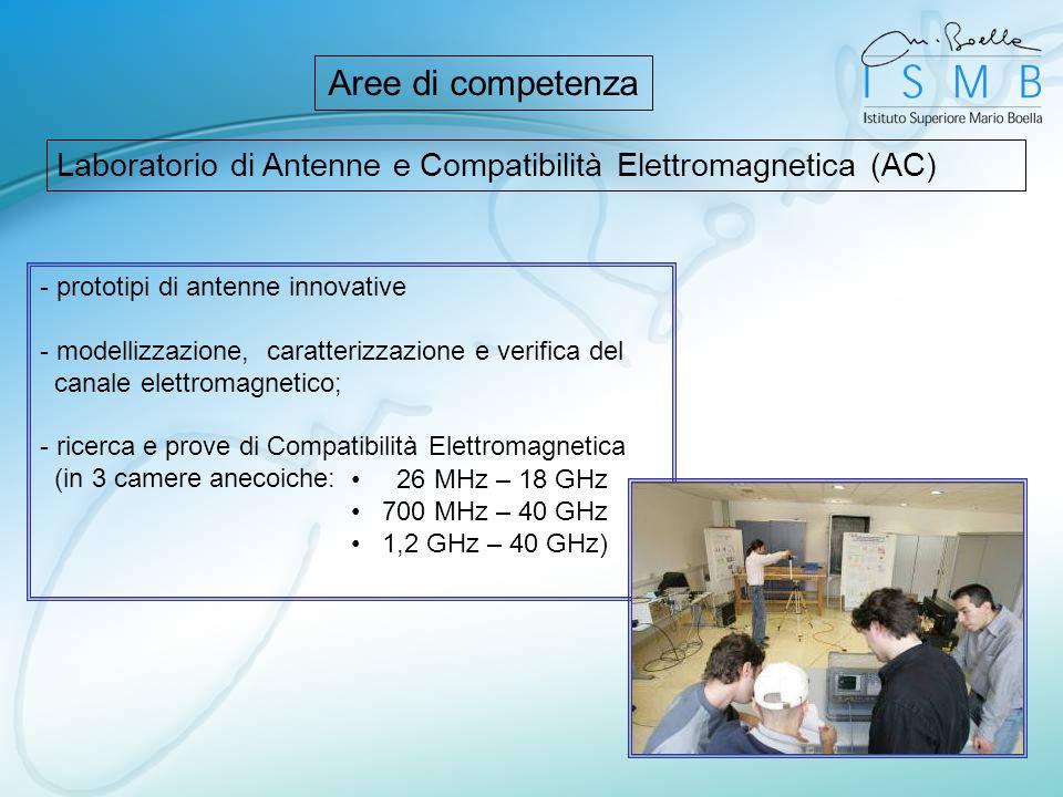 Laboratorio di Antenne e Compatibilità Elettromagnetica (AC) Aree di competenza - prototipi di antenne innovative - modellizzazione, caratterizzazione