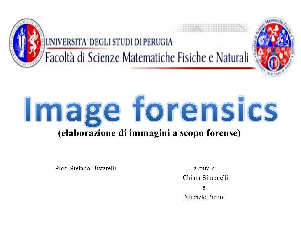 Prof. Stefano Bistarelli a cura di: Chiara Simonelli e Michele Piconi (elaborazione di immagini a scopo forense)