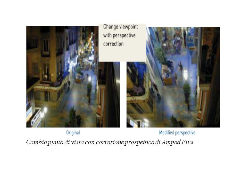 Cambio punto di vista con correzione prospettica di Amped Five