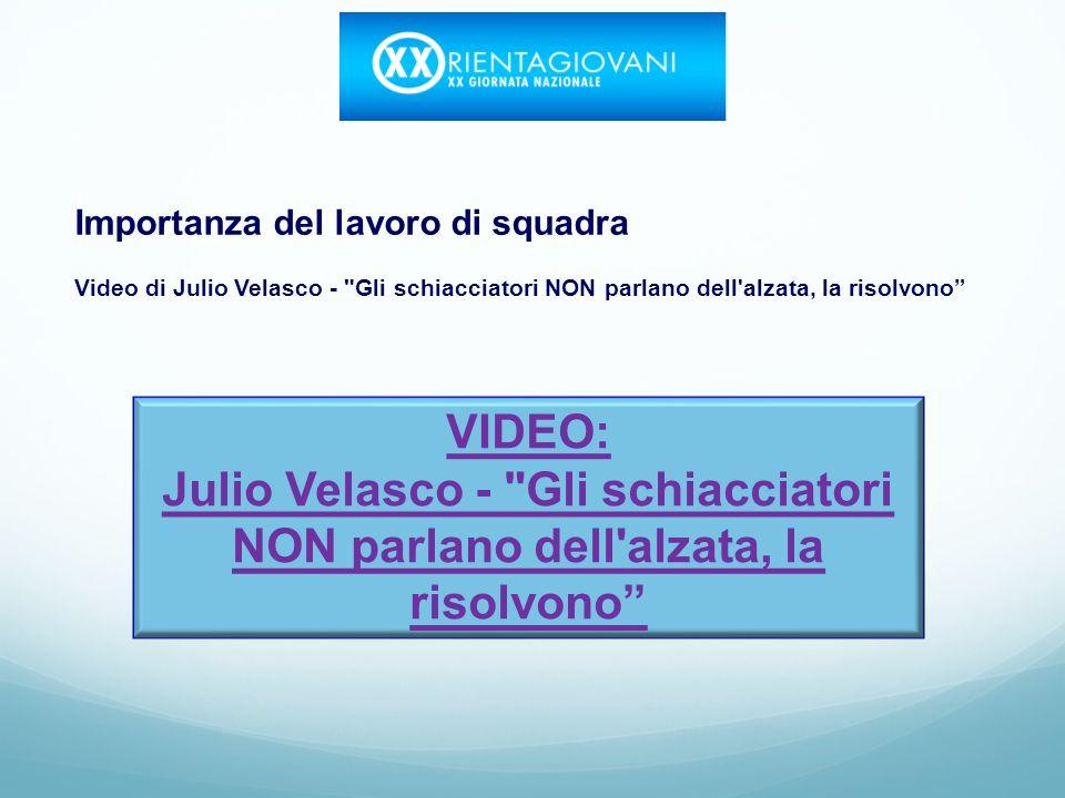 Importanza del lavoro di squadra Video di Julio Velasco - Gli schiacciatori NON parlano dell alzata, la risolvono VIDEO: Julio Velasco - Gli schiacciatori NON parlano dell alzata, la risolvono