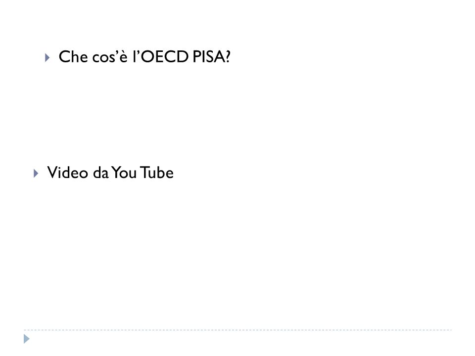 Che cosè lOECD PISA Video da You Tube