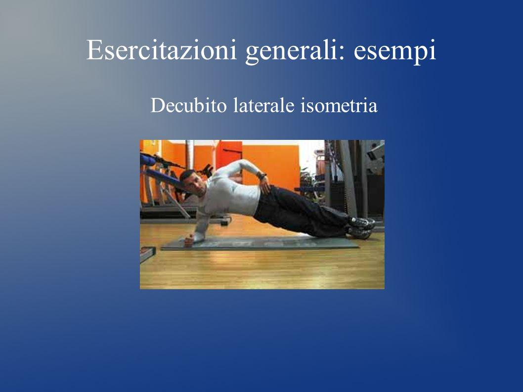 Esercitazioni generali: esempi Decubito laterale isometria