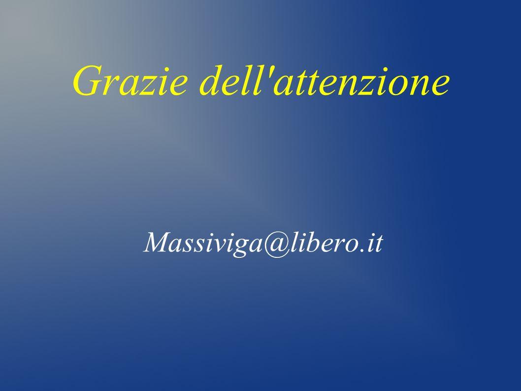 Grazie dell'attenzione Massiviga@libero.it