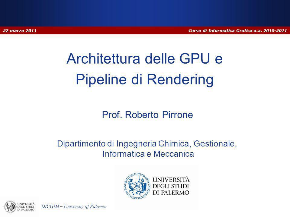 Corso di Informatica Grafica a.a. 2010-2011 DICGIM – University of Palermo Dipartimento di Ingegneria Chimica, Gestionale, Informatica e Meccanica Arc