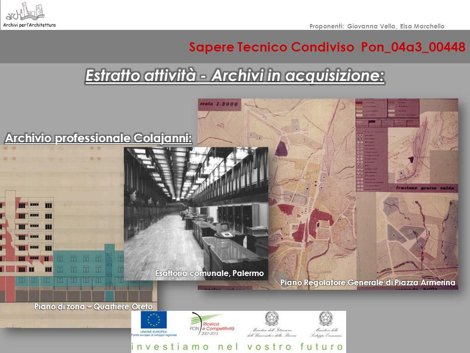 Sapere Tecnico Condiviso Pon_04a3_00448 Proponenti: Giovanna Vella, Elsa Marchello DIFFUSIONE – CONDIVISIONE - VALORIZZAZIONE Recuperiamo, cataloghiam