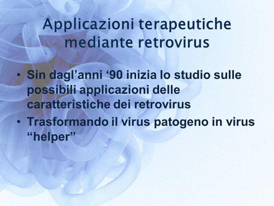Sin daglanni 90 inizia lo studio sulle possibili applicazioni delle caratteristiche dei retrovirus Trasformando il virus patogeno in virus helper