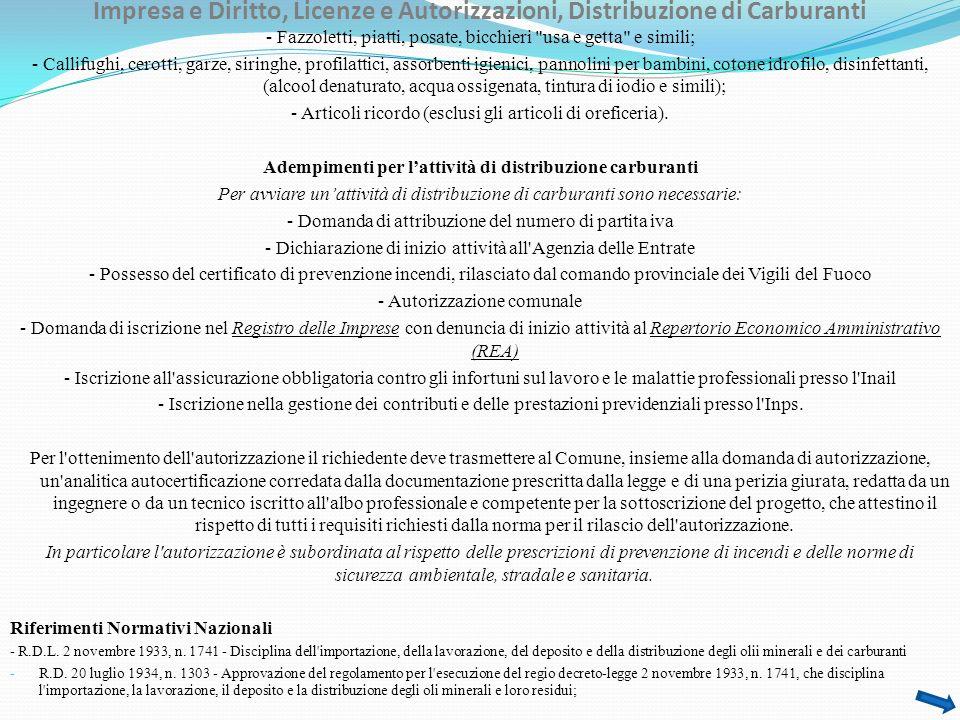 Impresa e Diritto, Licenze e Autorizzazioni, Concorsi a Pronostici, Scommesse… - L.