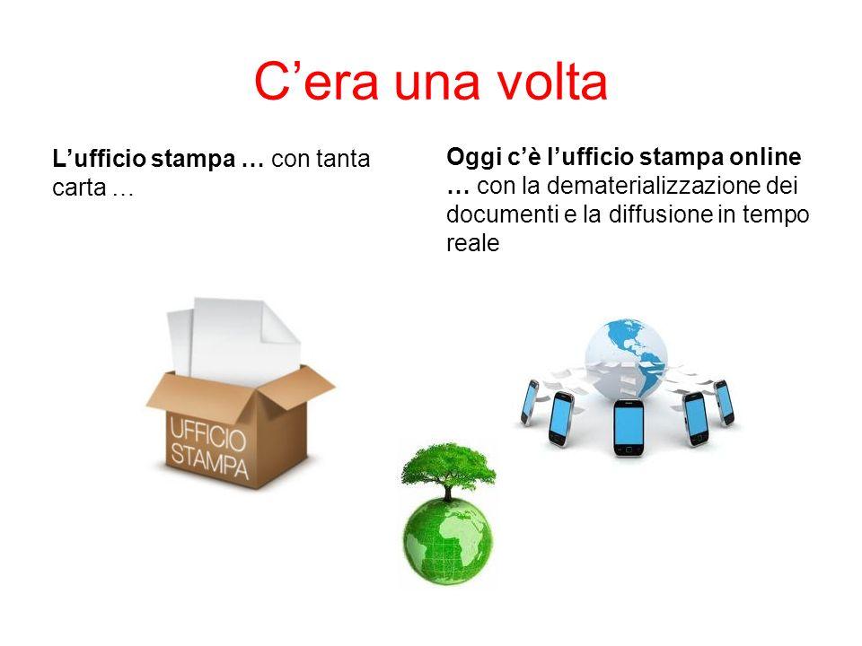 Cera una volta Lufficio stampa … con tanta carta … Oggi cè lufficio stampa online … con la dematerializzazione dei documenti e la diffusione in tempo