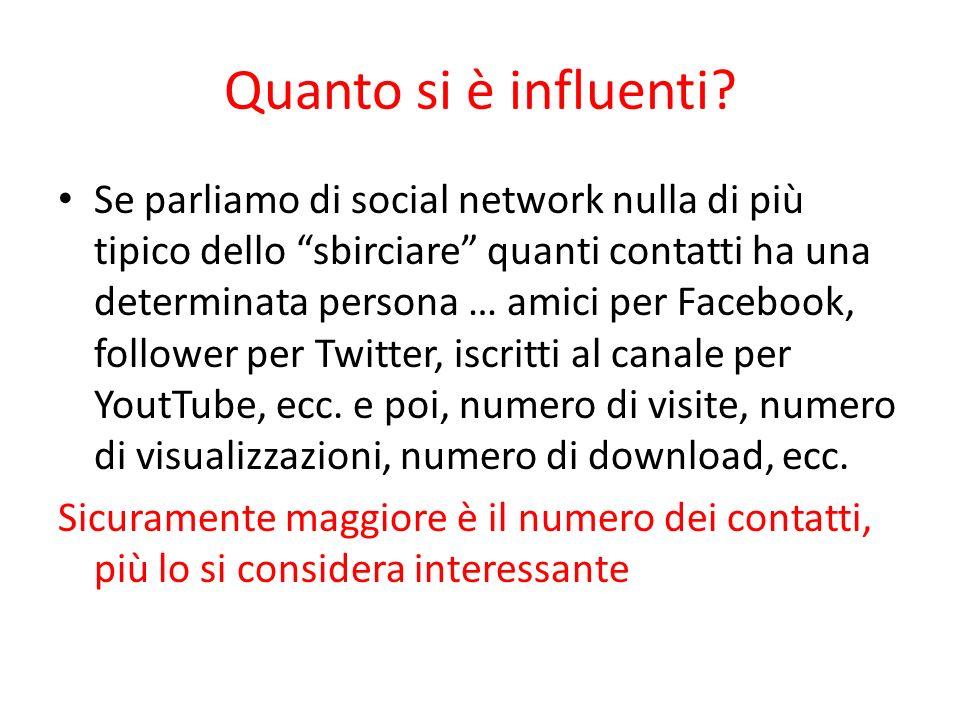 Quanto si è influenti? Se parliamo di social network nulla di più tipico dello sbirciare quanti contatti ha una determinata persona … amici per Facebo