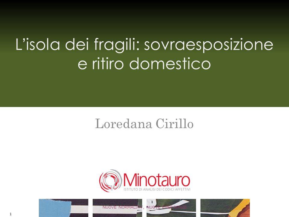 Lisola dei fragili: sovraesposizione e ritiro domestico Loredana Cirillo NUOVE NORMALITA, NUOVE EMERGENZE 1