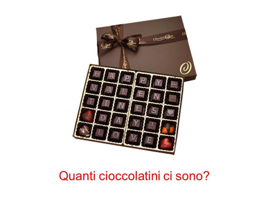 Quanti cioccolatini ci sono?