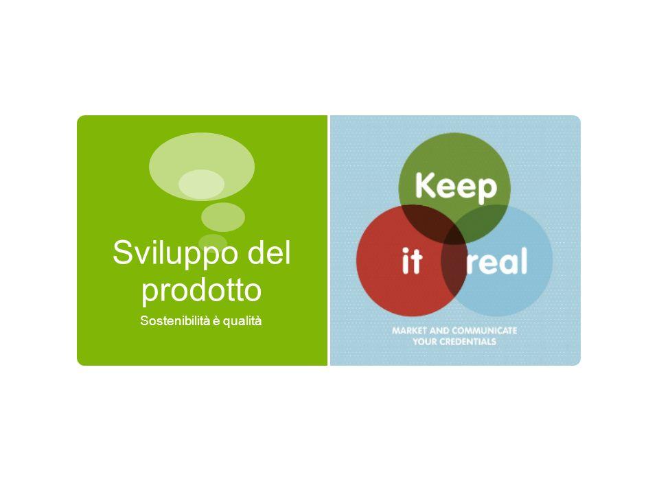 Sviluppo del prodotto Sostenibilità è qualità