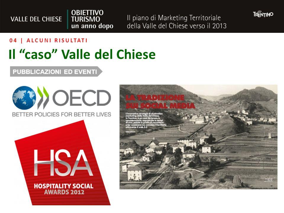 04 | ALCUNI RISULTATI Il caso Valle del Chiese PUBBLICAZIONI ED EVENTI