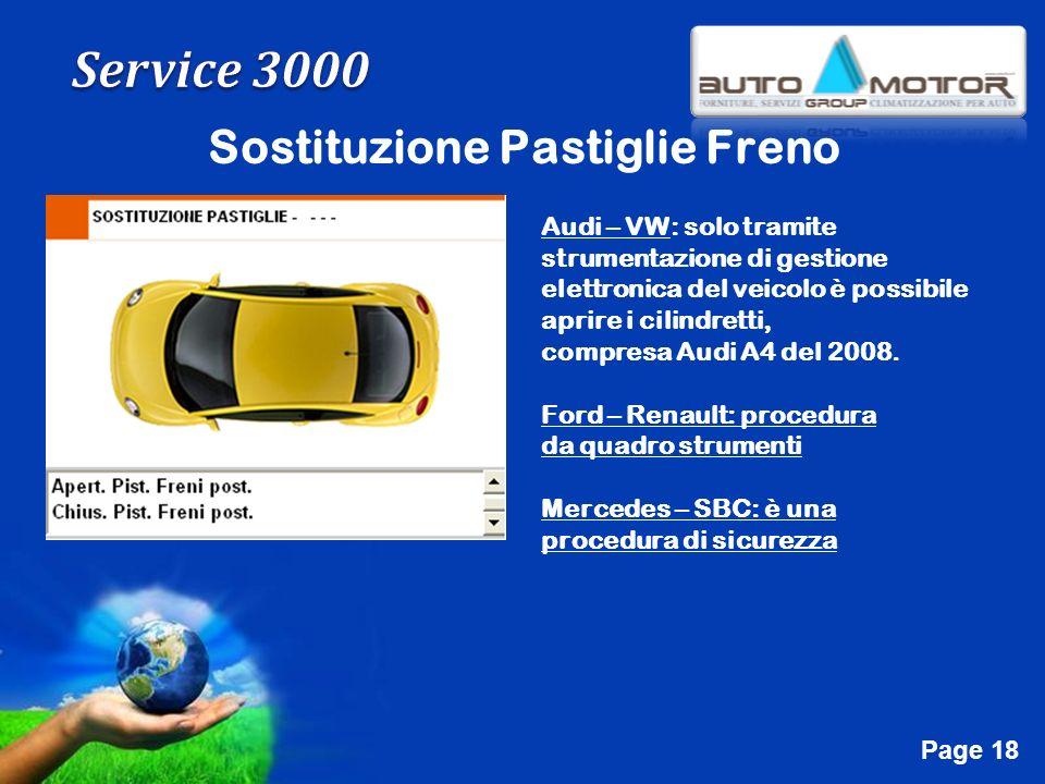 Free Powerpoint Templates Page 18 Sostituzione Pastiglie Freno Audi – VW: solo tramite strumentazione di gestione elettronica del veicolo è possibile