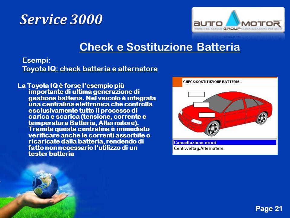 Free Powerpoint Templates Page 21 Check e Sostituzione Batteria Esempi: Toyota IQ: check batteria e alternatore La Toyota IQ è forse lesempio più impo