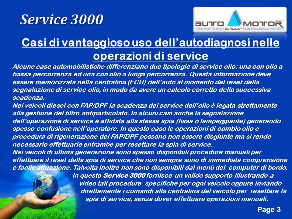 Free Powerpoint Templates Page 3 Casi di vantaggioso uso dellautodiagnosi nelle operazioni di service Alcune case automobilistiche differenziano due t