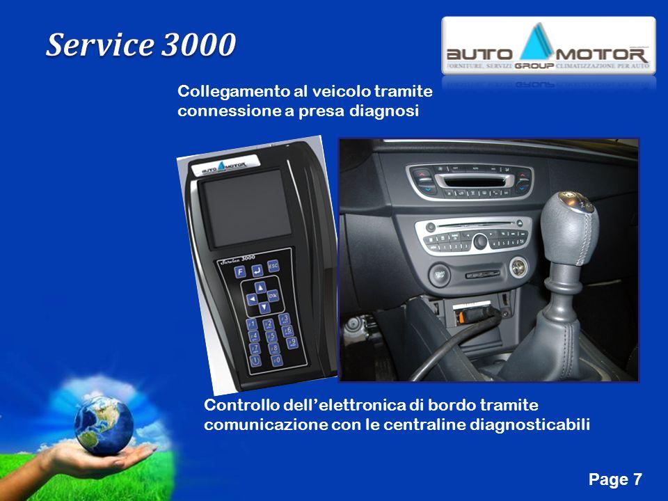 Free Powerpoint Templates Page 7 Collegamento al veicolo tramite connessione a presa diagnosi Controllo dellelettronica di bordo tramite comunicazione