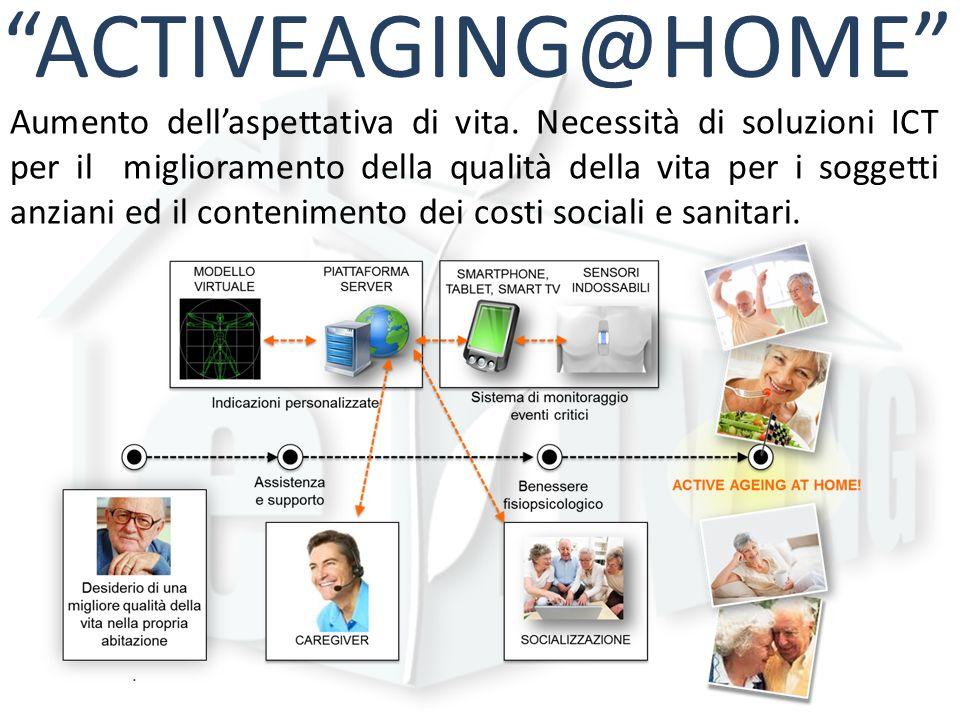 ACTIVEAGING@HOME Aumento dellaspettativa di vita. Necessità di soluzioni ICT per il miglioramento della qualità della vita per i soggetti anziani ed i