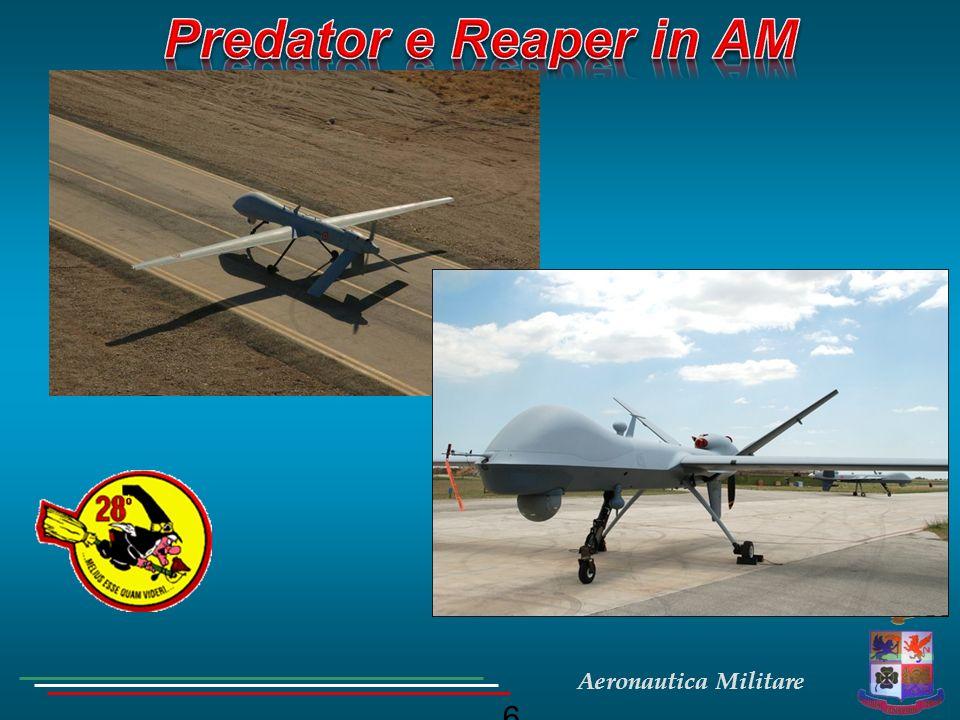 7 Sistemi APR della categoria strategica che coinvolgono differenti specialità di personale altamente qualificato; Sistemi APR della categoria strategica che coinvolgono differenti specialità di personale altamente qualificato; Level Of Automation (LOA) 2-3; Level Of Automation (LOA) 2-3; Sistemi a decollo ed atterraggio manuale; Sistemi a decollo ed atterraggio manuale; Equipaggio;: Equipaggio;: Front Crew: Pilota, Sensor Operator; Front Crew: Pilota, Sensor Operator; Operational Crew: Mission Monitor, Analista di Immagine, Tecnico Avionico; Operational Crew: Mission Monitor, Analista di Immagine, Tecnico Avionico;