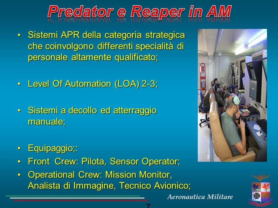 7 Sistemi APR della categoria strategica che coinvolgono differenti specialità di personale altamente qualificato; Sistemi APR della categoria strateg