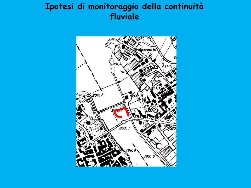 Ipotesi di monitoraggio della continuità fluviale