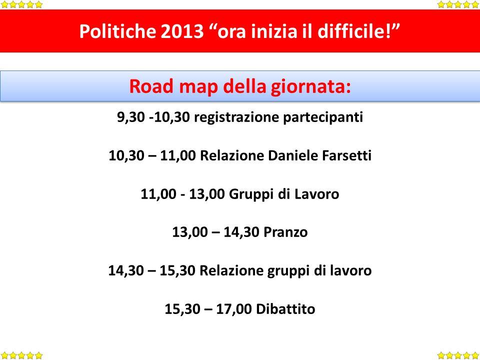 Politiche 2013 ora inizia il difficile.Raccolta Firme UN SUCCESSO.