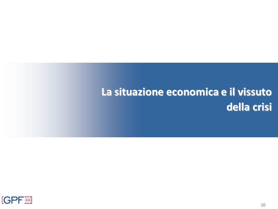 10 La situazione economica e il vissuto della crisi