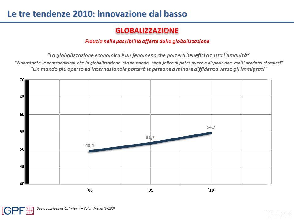 Le tre tendenze 2010: innovazione dal basso La globalizzazione economica è un fenomeno che porterà benefici a tutta l'umanità Nonostante le contraddiz