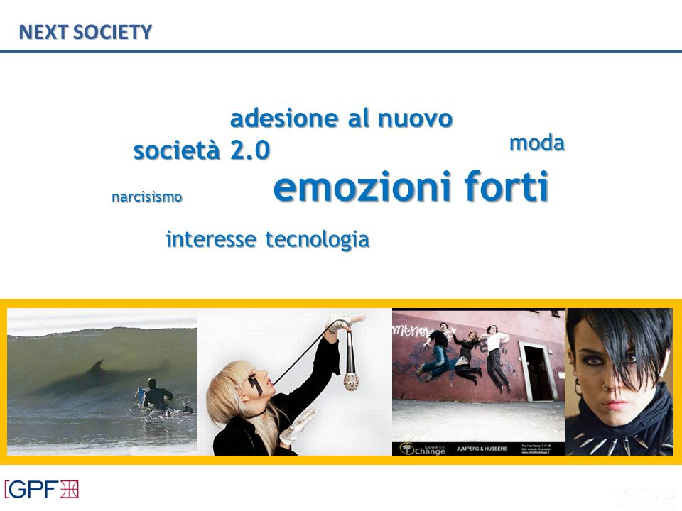 NEXT SOCIETY adesione al nuovo narcisismo emozioni forti società 2.0 moda interesse tecnologia