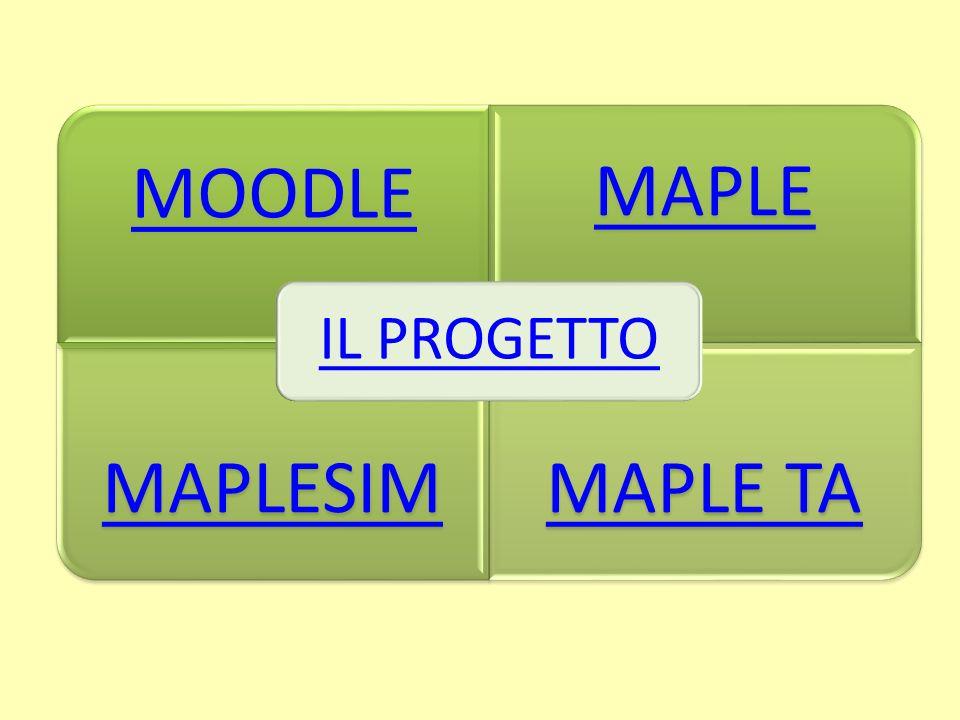 MOODLE MAPLE MAPLESIMMAPLE TA IL PROGETTO