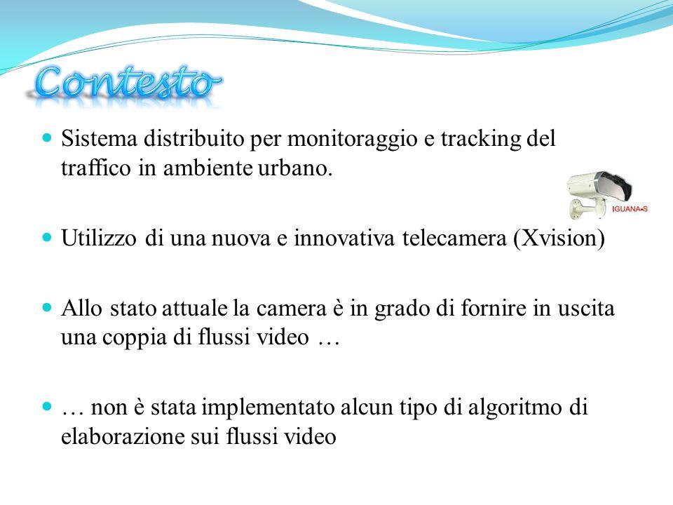Sistema distribuito per monitoraggio e tracking del traffico in ambiente urbano. Utilizzo di una nuova e innovativa telecamera (Xvision) Allo stato at