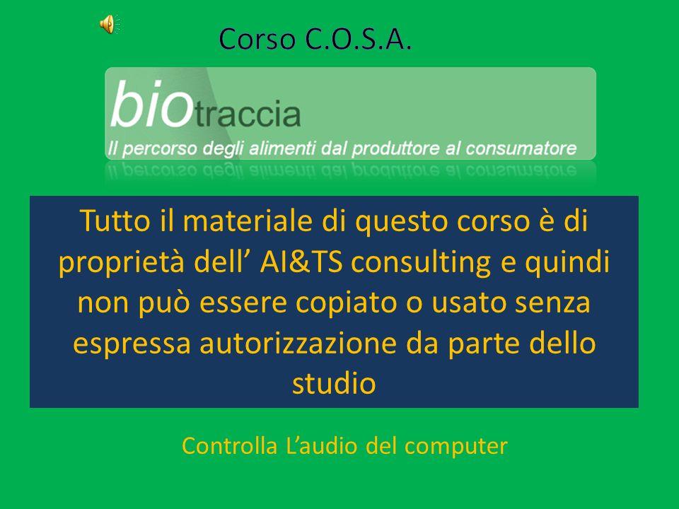 Tutto il materiale di questo corso è di proprietà dell AI&TS consulting e quindi non può essere copiato o usato senza espressa autorizzazione da parte