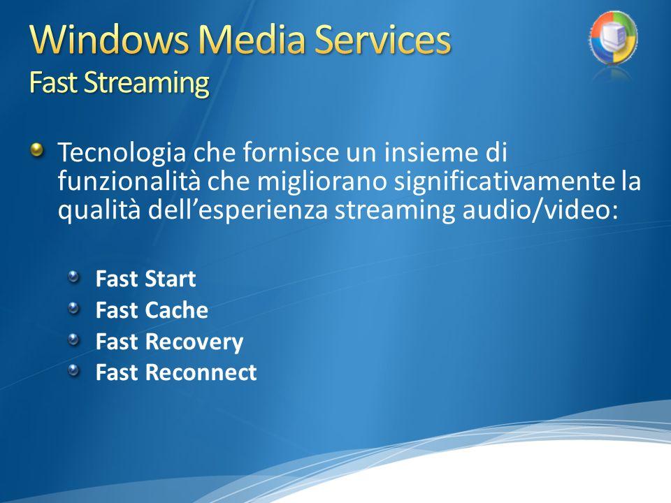 Tecnologia che fornisce un insieme di funzionalità che migliorano significativamente la qualità dellesperienza streaming audio/video: Fast Start Fast Cache Fast Recovery Fast Reconnect