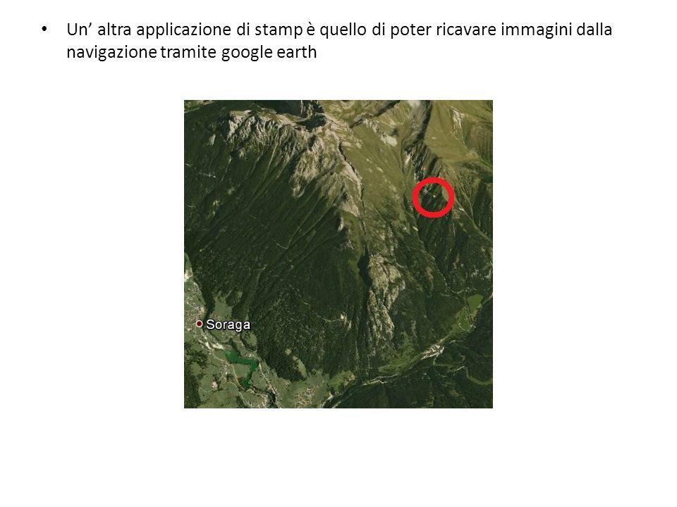 Un altra applicazione di stamp è quello di poter ricavare immagini dalla navigazione tramite google earth