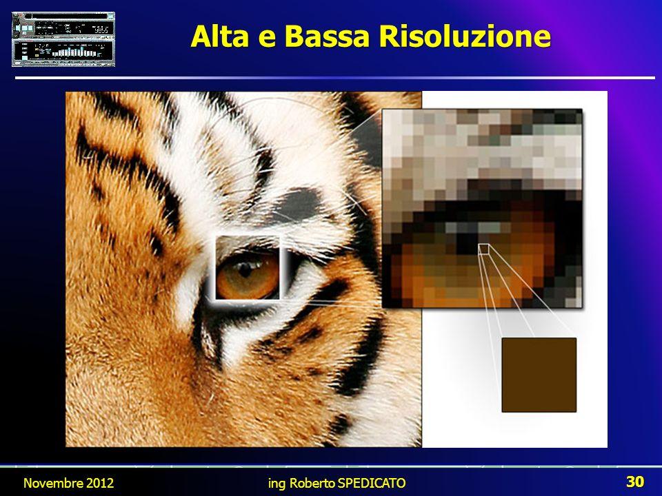 Alta e Bassa Risoluzione Novembre 2012 30 ing Roberto SPEDICATO