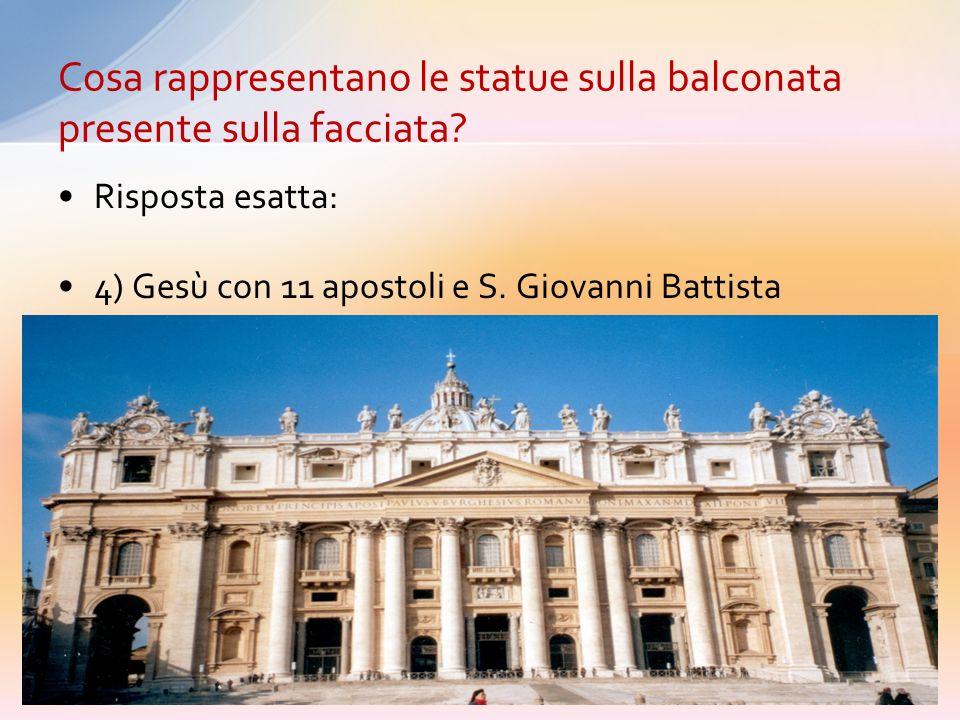 1) I Papi che si sono succeduti nel periodo di costruzione della Basilica 2) Gesù con i 12 apostoli 3) Gesù, San Pietro e San Paolo, e i padri della c