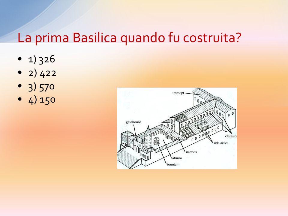 Risposta esatta: 1) Il Circo di Nerone La leggenda narra che la basilica sorge sulla tomba di S. Pietro. In prossimità della sua tomba cosa cera?